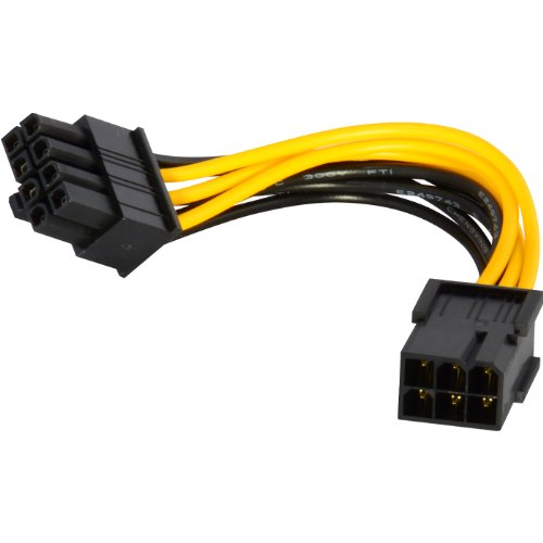 JacobsParts 6-pin to 8-pin PCI Express Power Converter Cable for Video Card