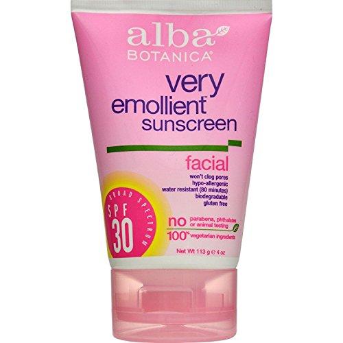 Alba Botanica - Alba Botanica Very Emollient Sunblock Facial Spf 30-4 Fl Oz - Pack Of (Alba Botanica Spf 20 Sunscreen)