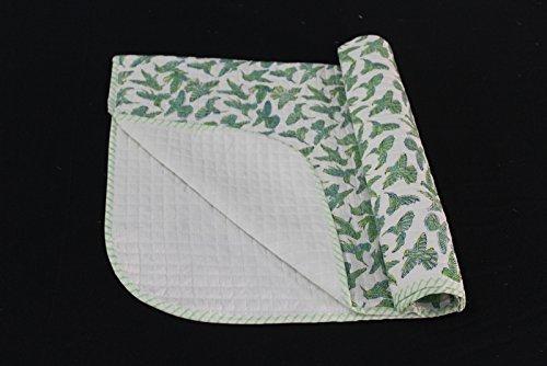 Worldoftextile Quilt Hand Cotton Gift For Baby Kids Bedding Hand Made Blanket Bird Printed