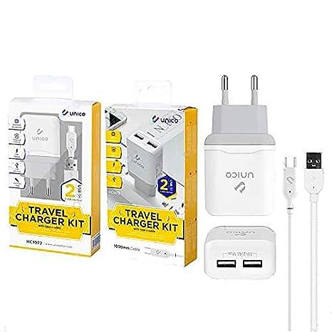 Cargador Carga Rápida Doble USB y Cable Tipo C 2.4A Móvil y ...