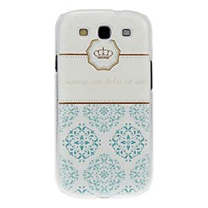 TOPMM Crown Pattern Hard Case for Samsung Galaxy S3 I9300