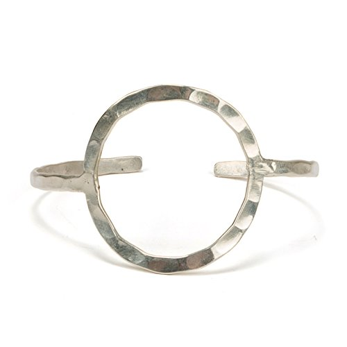 SPUNKYsoul New! Handmade Circle Bracelet in Gold or Silver for Women Collection (Silver)