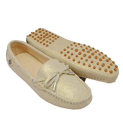 Minitoo ,  Damen Durchgängies Plateau Sandalen mit Keilabsatz , braun - khaki - Größe: 36