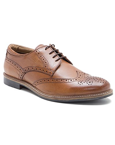 Red Tape Backford, Scarpe Stringate Brouge Uomo Abbronz
