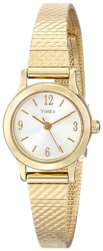 Timex Women's | Gold Tone Case & Strap White Dial | Classic Dress Watch T2P300