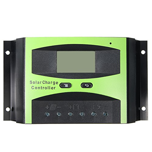 40A 12/24V PWM LCD Solar Controller Regulator Charge Temperature Compensation by Ologymart