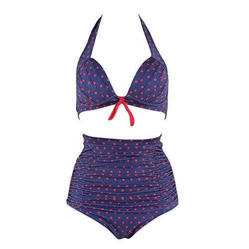 FeelinGirl Bikini Taille Haute Retro Vintage 2 pieces M-3XL: Amazon.fr:  Vêtements et accessoires