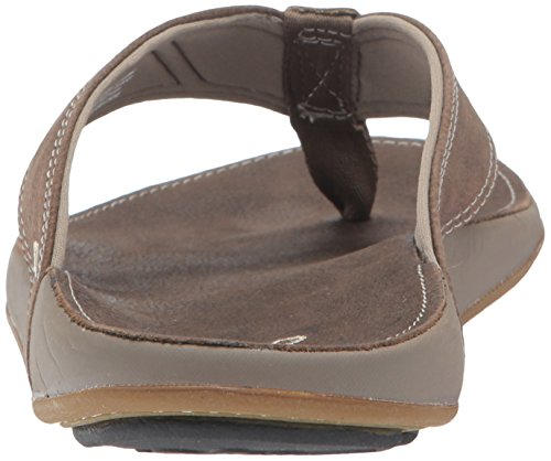 OluKai Men's NUI Sandal Rubber Pu Leather Grey Clay/Clay sale online shopping cheap sale best prices sale store sale OqTpaA