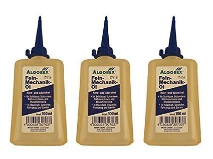 6 x Aceite de mecánica de precisión 100ml, ALGOREX, resina und libre de ácido