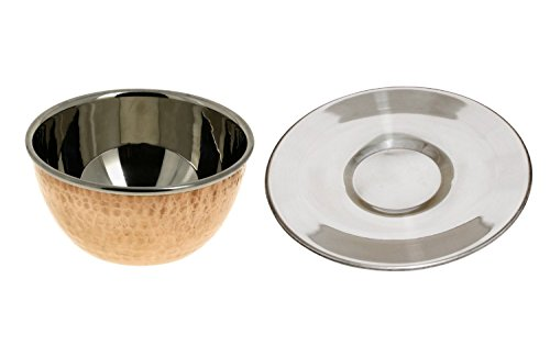 Good Friday Deals!! Copper Stainless Steel Soup Bowls Tableware Indian Traditional Serveware Set of 6 by RoyaltyRoute