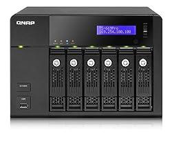 Qnap Intel Atom D2700 2.13GHz/1GB RAM/2GbE/6SATA3/2eSATA/USB3.0/6-Bay Tower Turbo NAS Server for SMBs (TS-669-PRO-US)