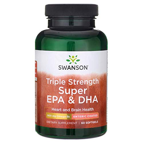 Swanson Triple Strength Enteric Coated Super Epa & Dha 60 Sgels Fish - Strength Epa Extra Dha