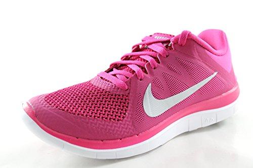 Nike Free 4.0 v4 Women's Vivid PinkSilverBlack Running Gym