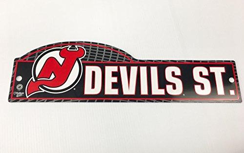 NHL New Jersey Devils 4 x 17 inch Plastic Street Sign