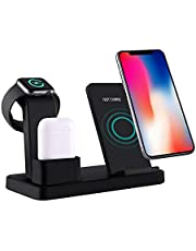 Drahtlose Ladestation für Apple Watch (mit QC3.0 Adapter) Schnelles Kabelloses Induktives Ladegerät für AirPods,iWatch,iPhone XS MAX/XR/X, Samsung Galaxy S10/S9/S8 and Andere Qi-Enabled Geräte