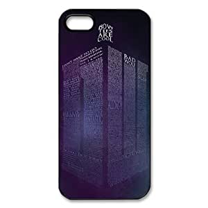 Doctor Who Tardis Police Box iPhone 5 5S Case Hard Plastic Doctor Who Iphone Cover HD Image Snap ON WANGJING JINDA
