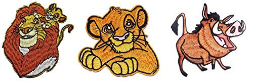 (The Lion King Movie Characters Set of 3 Embroidered 3