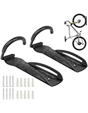 GOFORWILD Bike Rack Garage Wall Mount, Bicycle Depot Wall Hanger, Vertical Bike Hook for Indoor Bike Storage, Heavy Duty Holds Up to 60 lb, 2 Packs with Screws Black