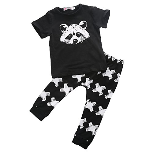 Newborn Baby Boys Grils Outfit Clothes T-shirt Top Tee +Pants Outfits Set (70, (Grils Clothes)