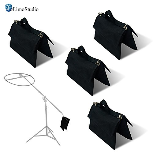 LimoStudio 4 Packs of Photo Video Studio Photographic Sand Bag for Heavy Duty Equipment, Boom Stand Tripod Arm Bar Support Weight Bag, Photography Studio, AGG2140 by LimoStudio