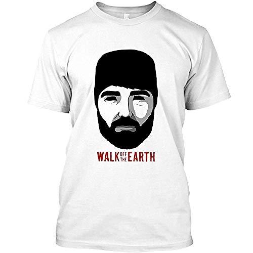 Walk Off The Earth - Hipster Beard Guy Unisex White T-Shirt (Beard Man T Shirt Walk Off The Earth)