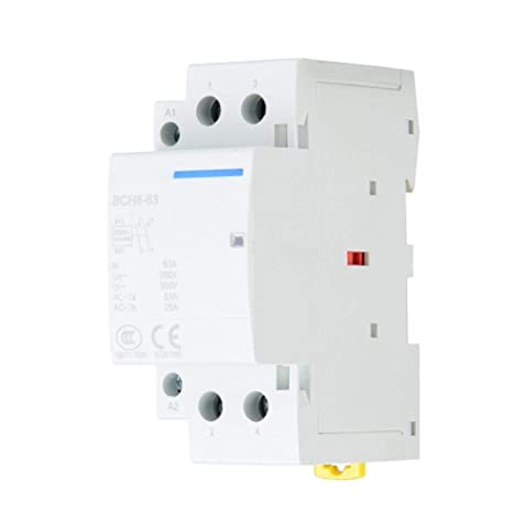 63A Din Rail AC Contactor 2 polos, Din Rail Contactor AC 1NO 1NC ...