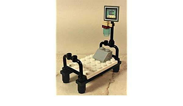 Doctor LEGO Hospital Bed Nurse Stretcher Bed for minifigure Patients