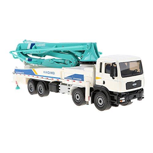 SM SunniMix Concrete Pump Truck Construction Equipment Vehicle Model Toy Car 1:55 Diecast Boxset ()