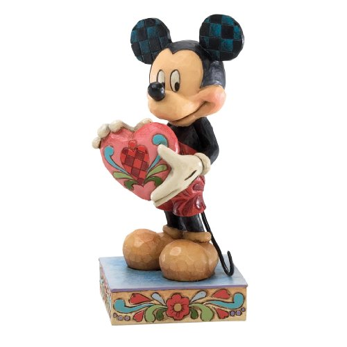 Disney Traditions by Jim Shore Mickey Mouse with Heart Figurine, 4-3 4-Inch
