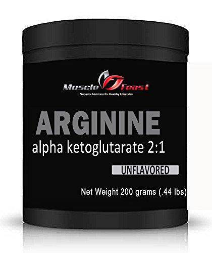 Muscle fête Arginine AKG 200 grammes (7 onces)