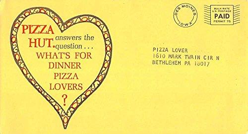Bethlehem Pennsylvania Pizza Hut Romance Couple Coupon Antique Postcard K93339