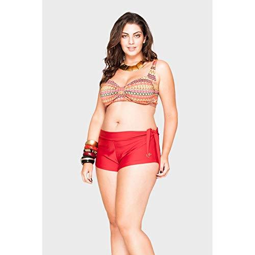 Shorts Amy Plus Size Vermelho-52