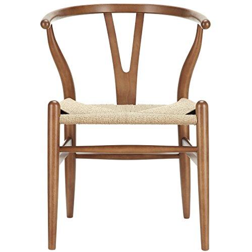 Amazon.com: Modway Amish Mid Century Dining Armchair In Walnut: Kitchen U0026  Dining