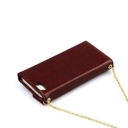 Zenus L-Diary Case/Tasche Wein für Apple iPhone 5/5S