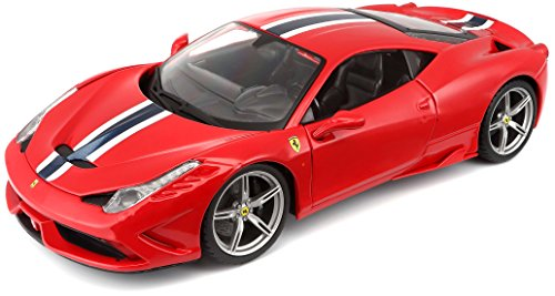 Bburago 1:18 Scale Ferrari Race and Play 458 Speciale Diecast Vehicle (Colors May - Specials Ferrari
