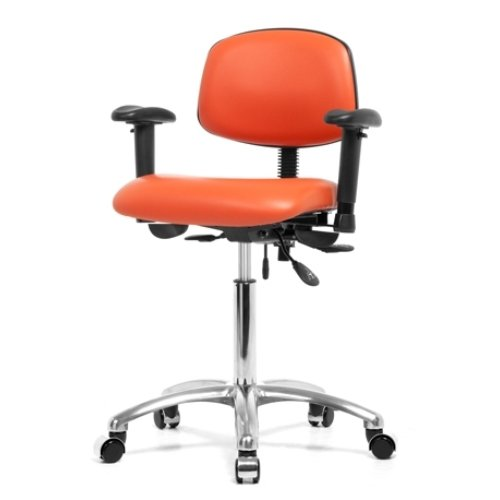 Perch Chrome Multi-Task Office Chair with Adjustable Armrest