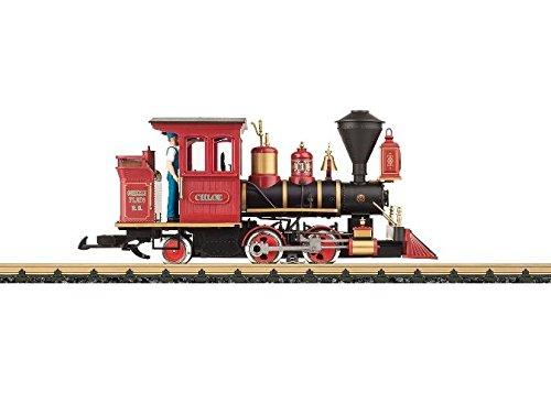 "LGB LEHMANN G SCALE MODEL TRAINS - Baldwin 0-4-2T - Standard DC -- Ward Kimball's Grizzly Flats Railroad ""Chloe"" (black, red) 23131 from LGB"