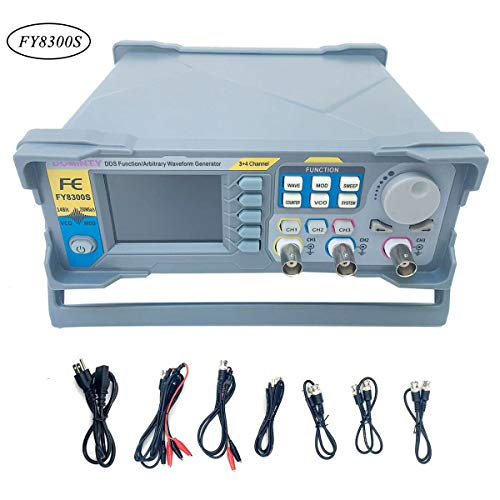 SOFEDY FY-8300S 60MHz DDS Signal Generator Counter High Precision Multifunctional Arbitrary Waveform Function Generator Frequency Meter Hospital School Use with USB Cable US Plug
