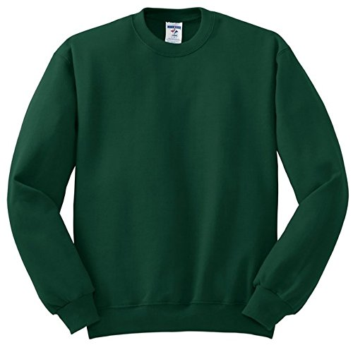 Mens Soft Crewneck Sweatshirt By Jerzees  Forest Green  4X Large