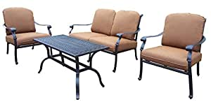 Oakland Living Hampton 4-Piece Chat Set with Sunbrella Cushions