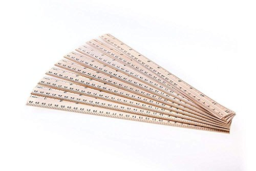 Betan 30 Pack Wooden Rulers Student Rulers Wood School Rulers Measuring Ruler Office Rulers,2 Scale,30 cm and 12 inch by Betan (Image #3)