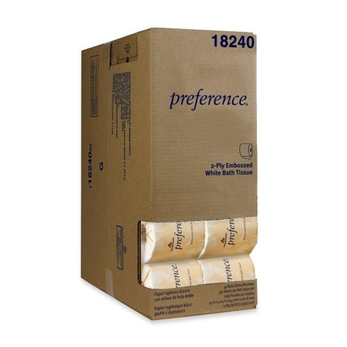 Preference Embossed Bathroom Tissue in Dispenser Box - Two-P