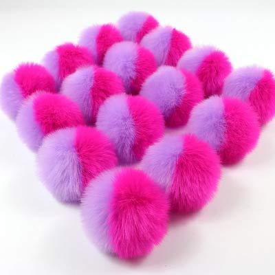Dalab 20pcs/lot 8cm Color Matching Imitation Rabbit Hair Ball Mobile Phone Bags Pendant Super Cute Plush Ball - (Color: 1)