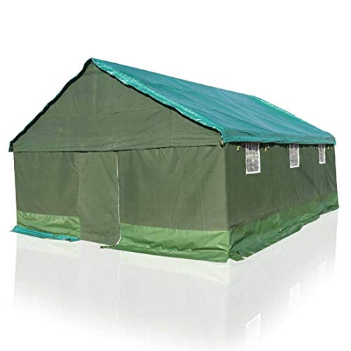 YIXINGSHANGMAO Outdoor Project Tent Site Earthquake Relief Civilian Rainproof Thick Canvas Construction Tent Tents…