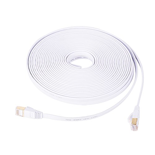 Aifxt 80 Ft CAT 7 Ethernet Network LAN Patch Cable Cord 600MHz 10Gbps RJ45 White