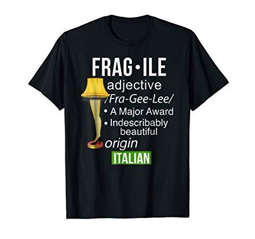 Christmas Leg Lamp Fragile Definition Funny Major Award Tee ()
