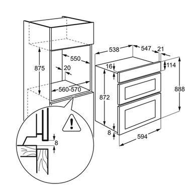 Aeg Dee431010b Built In Double Oven Black Ha1501 Amazon Co Uk