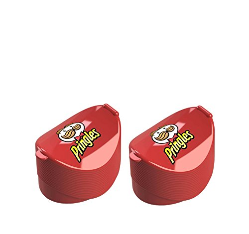 Jokari Pringles Containers (2 pack) Single Serve Lunch Snack Idea for Kids - perfect as Travel Container & Chip Storage Boxes
