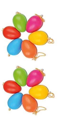Kunststoff-Ostereier bunt , 12 Stk. Plastik Eier