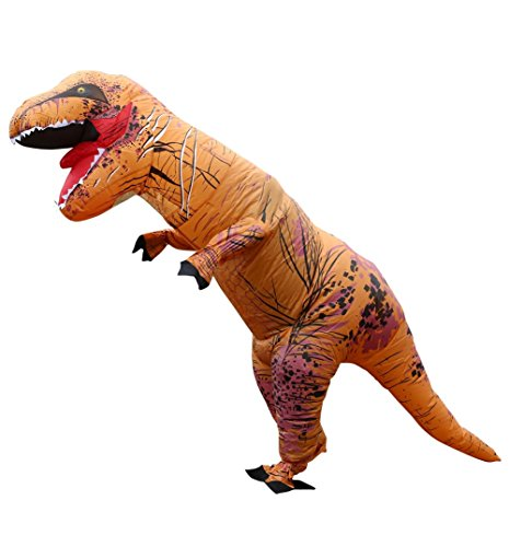 JudyBridal Adult Inflatable T-Rex Dinosaur Costume Halloween Suit Unisex Cosplay